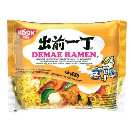 NOUILLE INSTANT CURRY 100G NISSIN