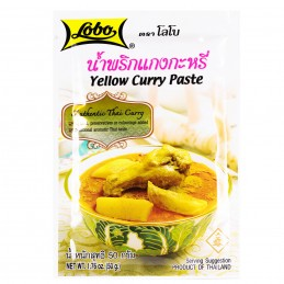 PATE CURRY JAUNE 50G LOBO